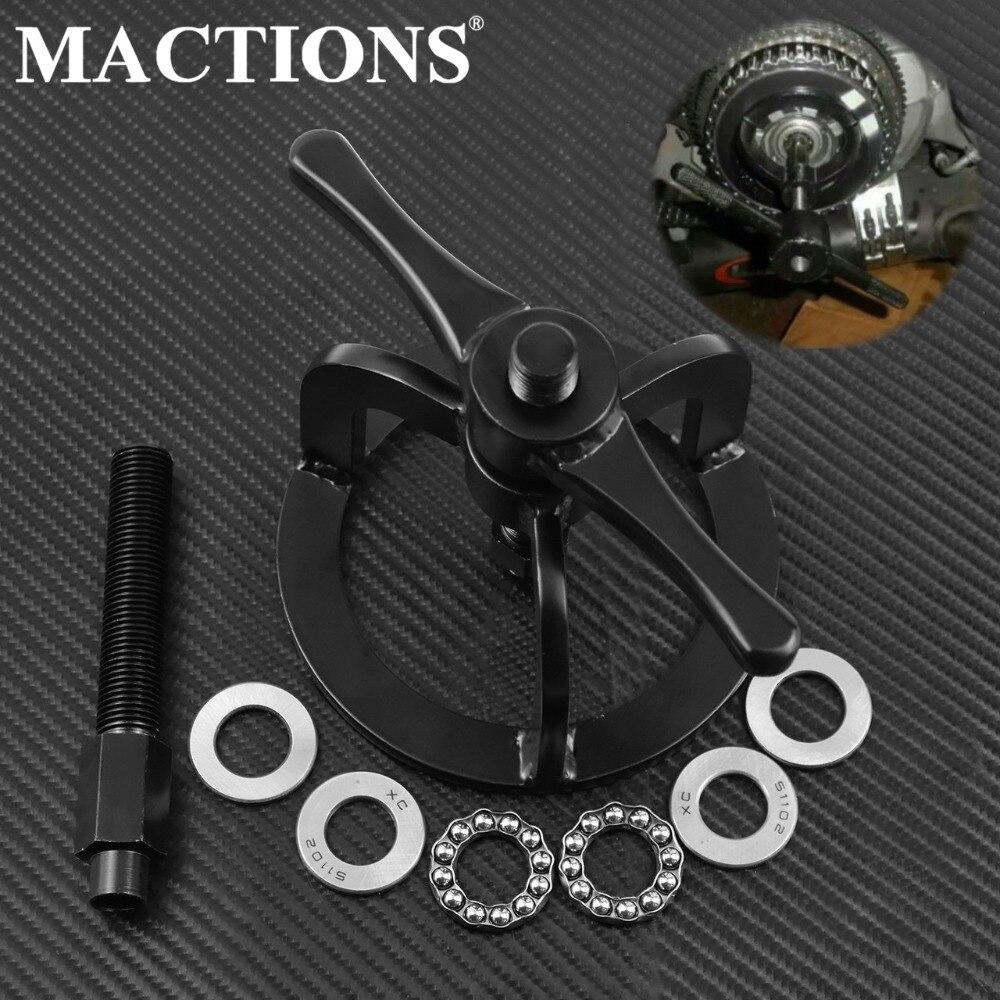 Kit d'outils de Compression de ressort d'embrayage de moto noir pour Harley 1340cc XL 883 XL1200 XLH 883 1990-2007 1200cc 1991-2001