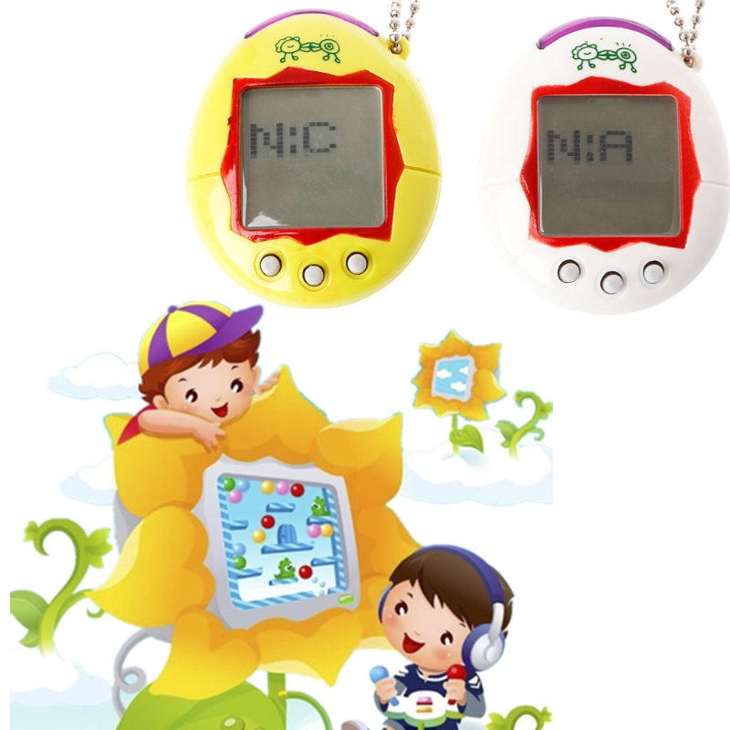 Cute LCD Animal Cyber Virtual Digital Pet Electronic Game Machine With Keychain Drop Ship