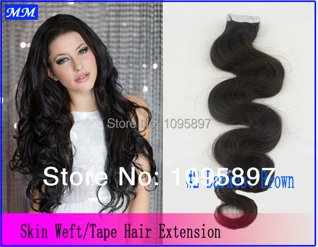 Pu Skin Weft Tape Hair Extensions Malaysian Body Wave Hair Wholesale