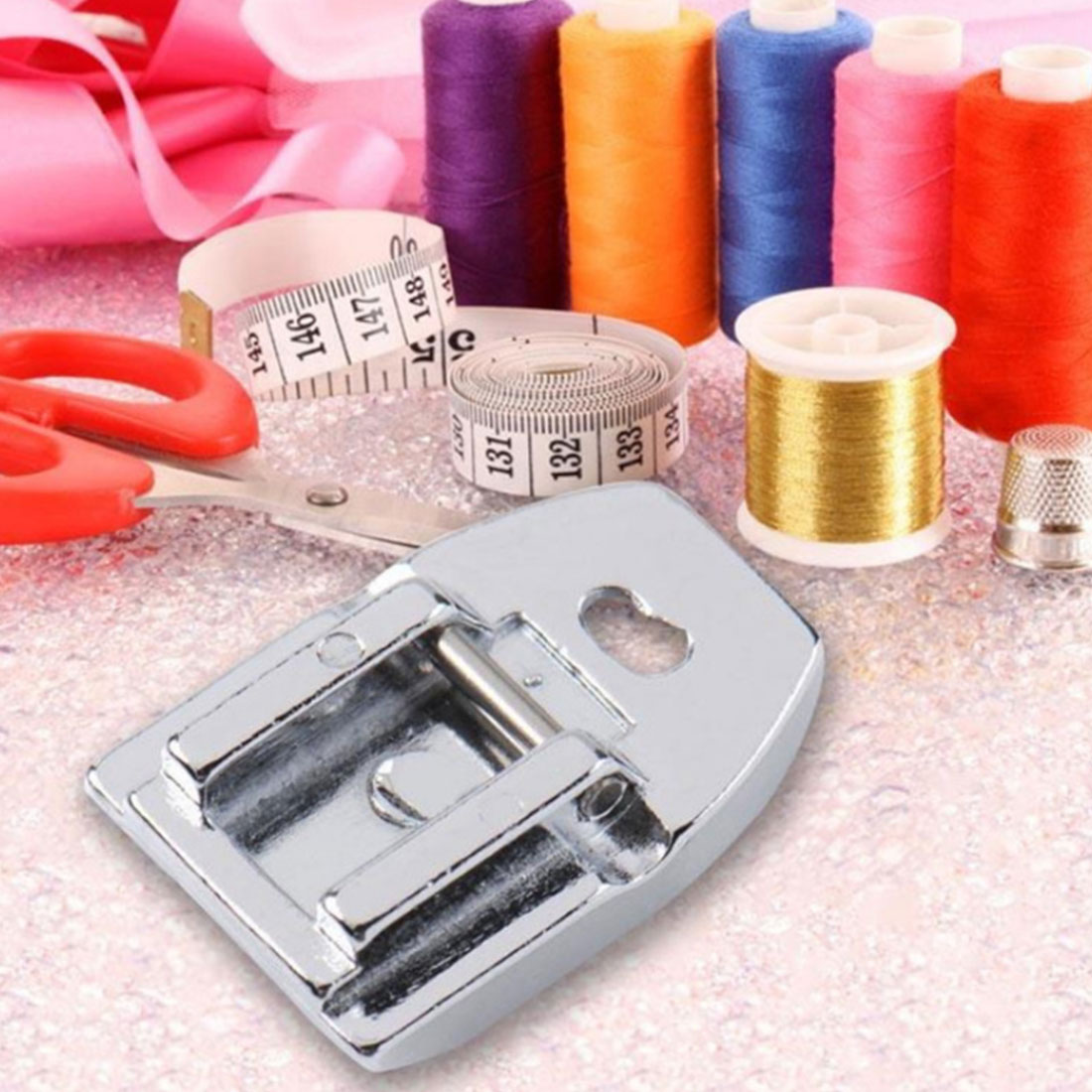 Free Shipping Household Sewing Machine Shell Hemmer Part Binder Presser Sewing Machine Foot Accessories Multi Function in Sewing Machines from Home Garden
