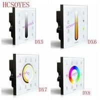 LTECH DX5/DX6/DX7/DX8 разделенному RGBW Сенсорная панель 2,4G Беспроводной DMX512 диммер раздела цветовой температуры сенсорной панели 4 зон