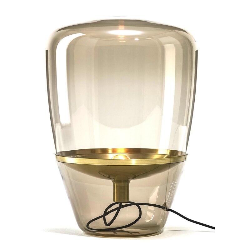 Verre nordique lampadaire simple conception chambre lampe de chevet creative lampe de table salon étude debout luminaires montage