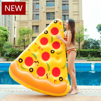 Inflatable Pizza 180cm Swimming Floats Water Donut Pool Toys Inflatable Swim Ring For Fun Adult Swimming Air Mattress