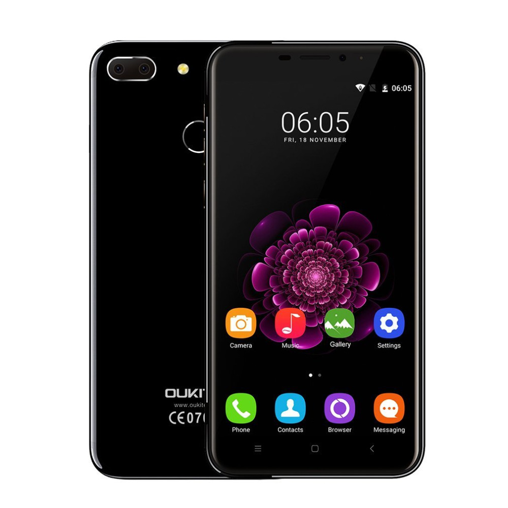 OUKITEL U20 Plus 13Mp 5Mp camera 3300mah battery Android 6 0 5 5 inch Press fingerprint