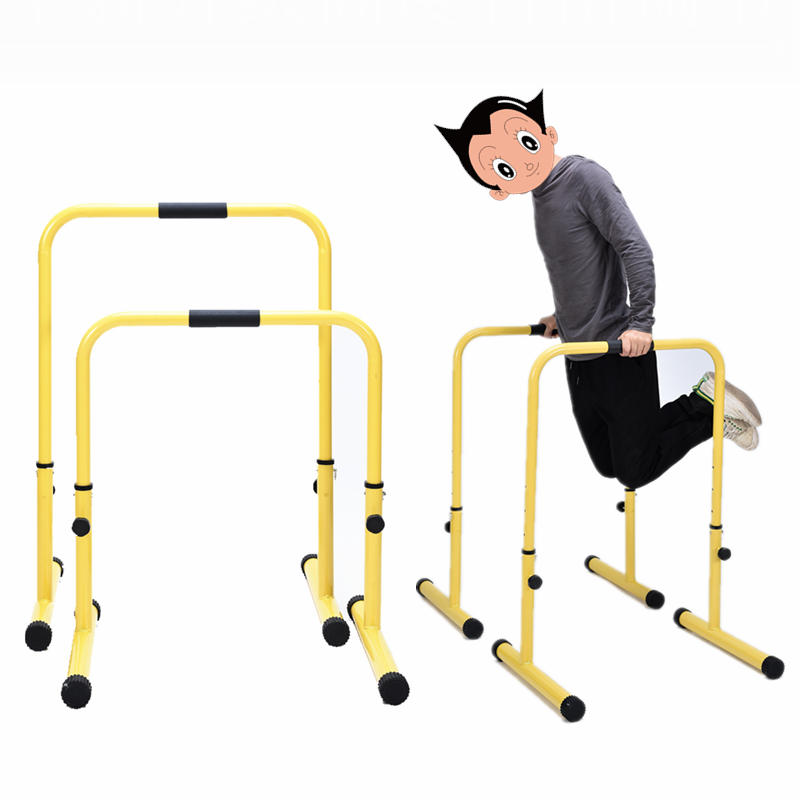 Multi-functional Fitness Station Stabilizer Dip Stands, 4 Grade Adjust Height Parallel Bars, Max User Weight 440LBS/200KG