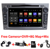 Серый piano7 inch Android 7.1 автомобиль DVD GPS навигации для Opel Astra H Vectra Антара Zafira Wi Fi 3G BT Радио USB SD Бесплатная 8 Gmap + DVR