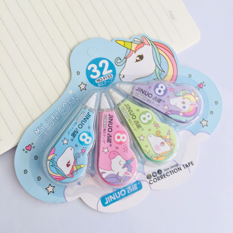 4 Pcs/pack Kawaii Unicorn Practical Correction Tape Promotional Gift Stationery Student Prize School Office Supply