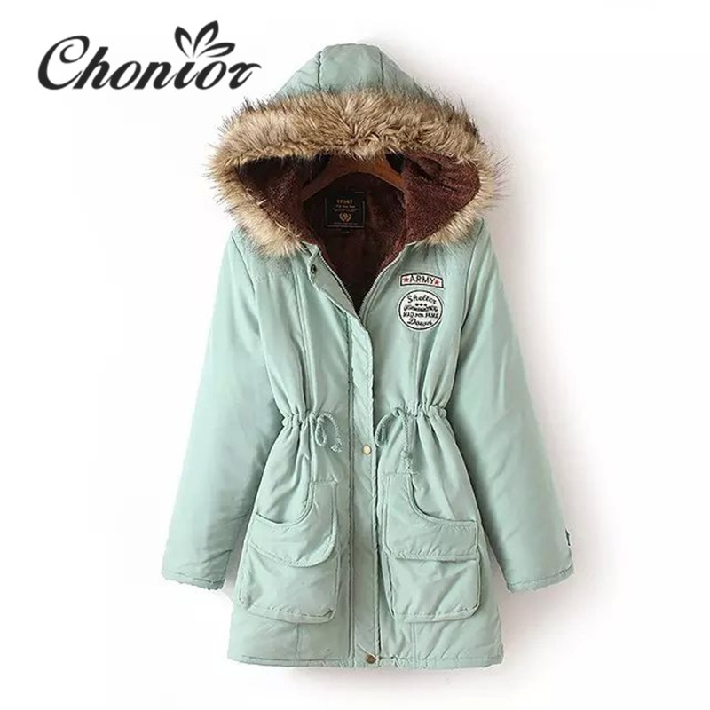Winter Coat Women 2017 New Autumn Winter Thick Hooded Hoodies Parka Ladies Casual Cotton Outwear Winter Jacket Plus Size shibever new cotton women winter coat ladies casual jacket women warm thick winter parka female outwear clothing for girl cjt142
