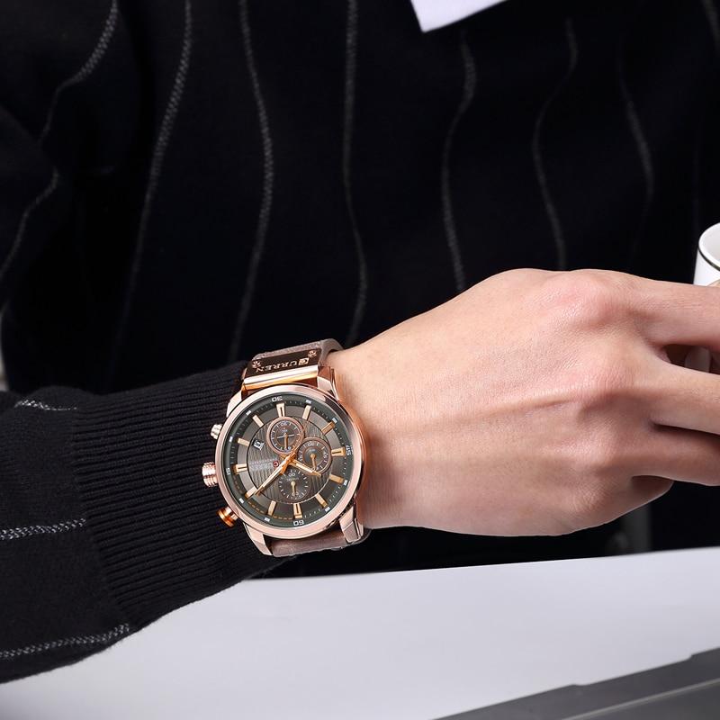 CURREN 8291 Luxury Brand Men Analog Digital Leather Sports Watches Men\`s Army Watch Man Quartz Clock Relogio Masculino drop shipping wholesale cheap (2)