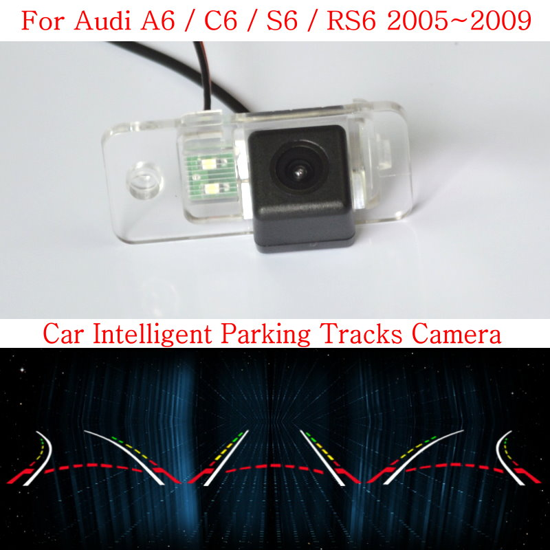 Lyudmila Car Intelligent Parking Tracks Camera FOR Audi A6 C6 S6 RS6 HD CCD Night Vision Back up Reverse Rear View Camera lyudmila car intelligent parking tracks camera for mazda 6 mazda6 m6 sedan 2013 2017 hd car back up reverse rear view camera