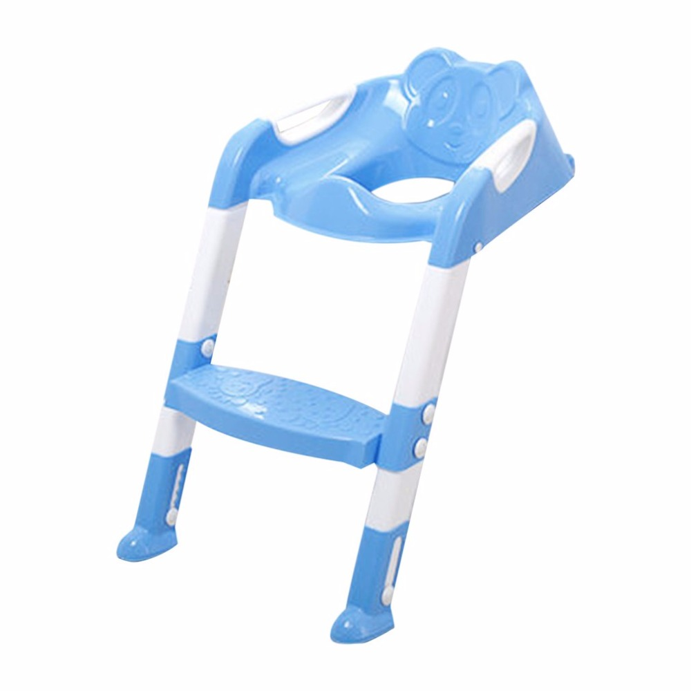 Foldable Children Potty Seat With Ladder Cover PP Toilet Adjustable Chair Pee Training Urinal Seating Potties for Boys Girls hot 1pcs urinal gogirl go girl woman urination device 9 5cm stand up pee fud camping travel portable female tiolet