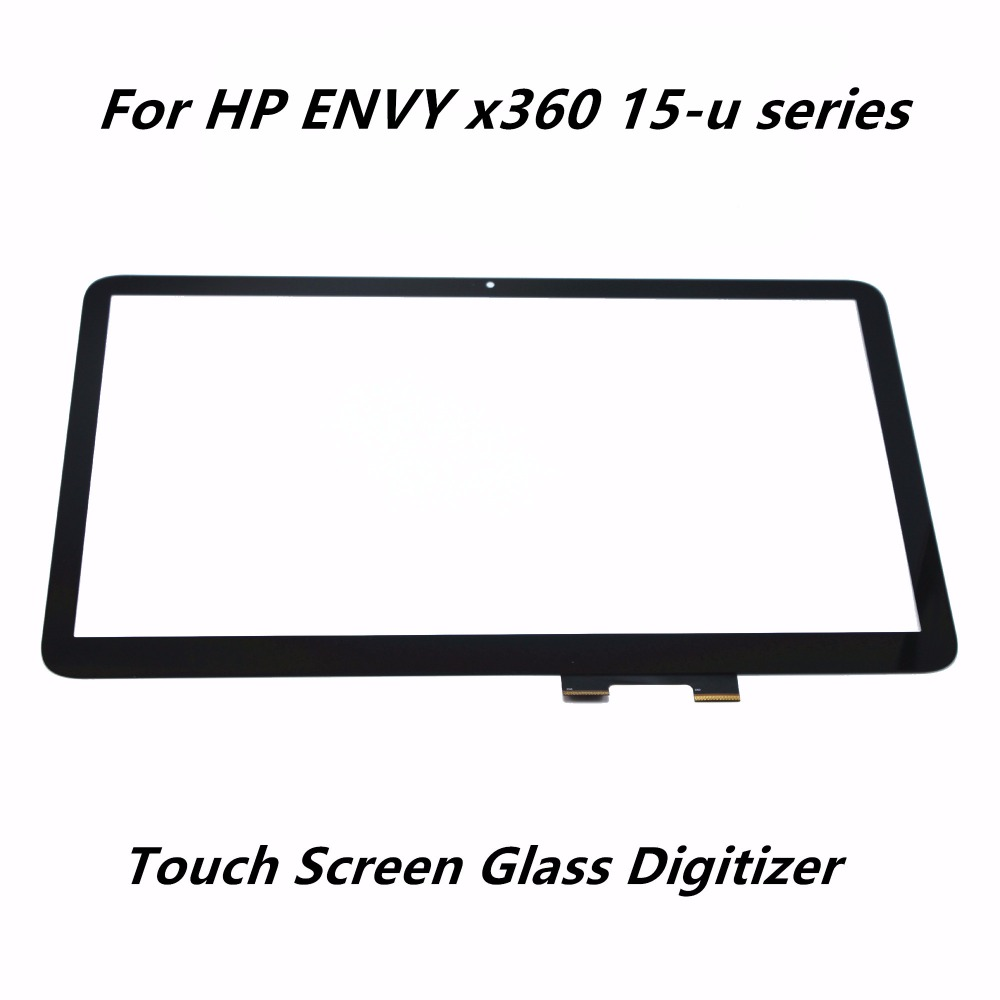 ноутбук трансформер hp envy x360 15 aq106ur 1gm01ea 15.6'' For HP ENVY x360 15-u111dx 15-u170nz 15-u231no 15-u363cl Laptop Touch Panel Digitizer Screen Front Glass Lens Replacement