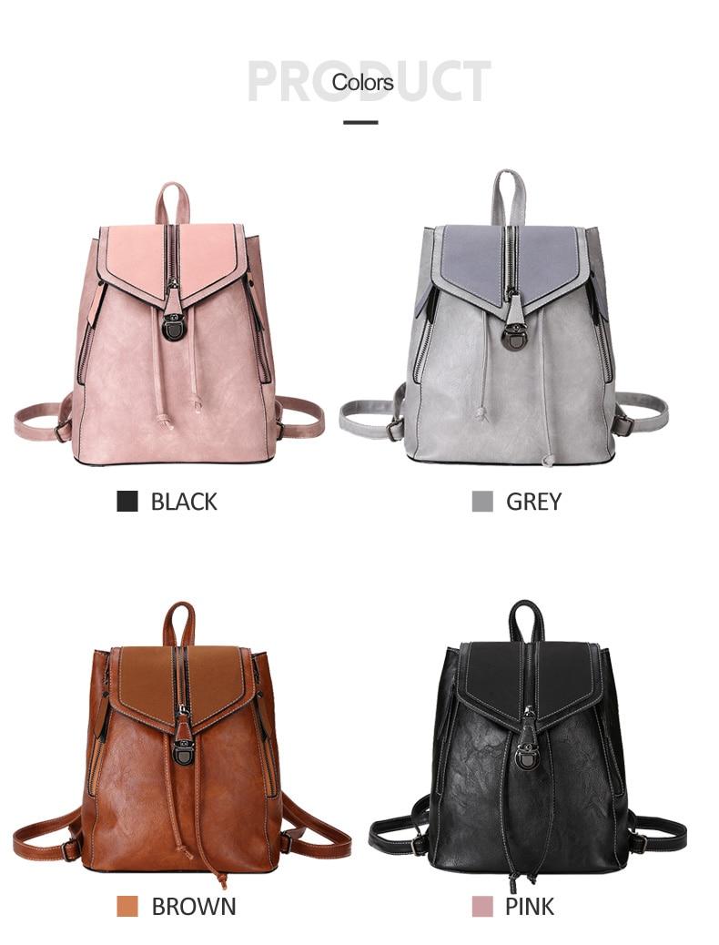 HTB1hDzVbQ5E3KVjSZFCq6zuzXXaI Vintage Matte Leather Women Backpacks High Quality Multifunctional Shoulder Bag Female Girls Backpack Retro Schoolbag XA533H