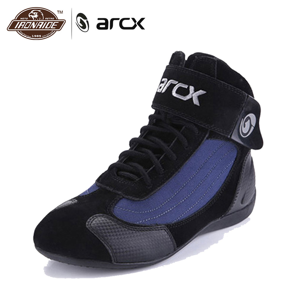 ARCX Genuine Cow Leather Motorcycle Riding Boots Street Moto Racing Ankle Boots Motorbike Chopper Cruiser Touring