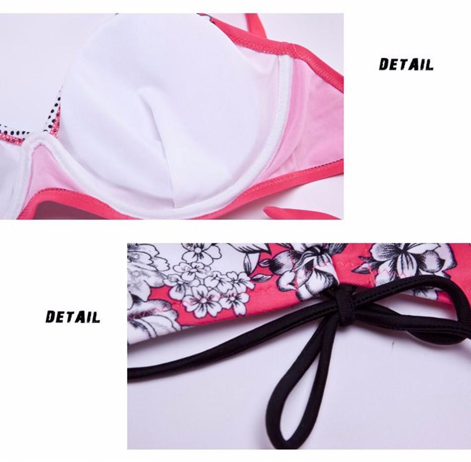 Extra Large Size Middle Waist Printed Bikini Swimwear Big Bra Soft Cup Tunic Bikinis Set Swimsuit Bathing Suit 6