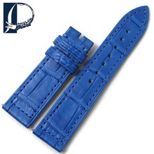 Pesno Suitable for FM Heart Alligator Skin Leather Watch Strap 18mm Blue Women Watch Accesories