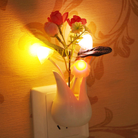 Lily Rose Grass Mushroom Lamp Light Colorful Mushrooms Induction LED Energy Saving Light Bedrooms