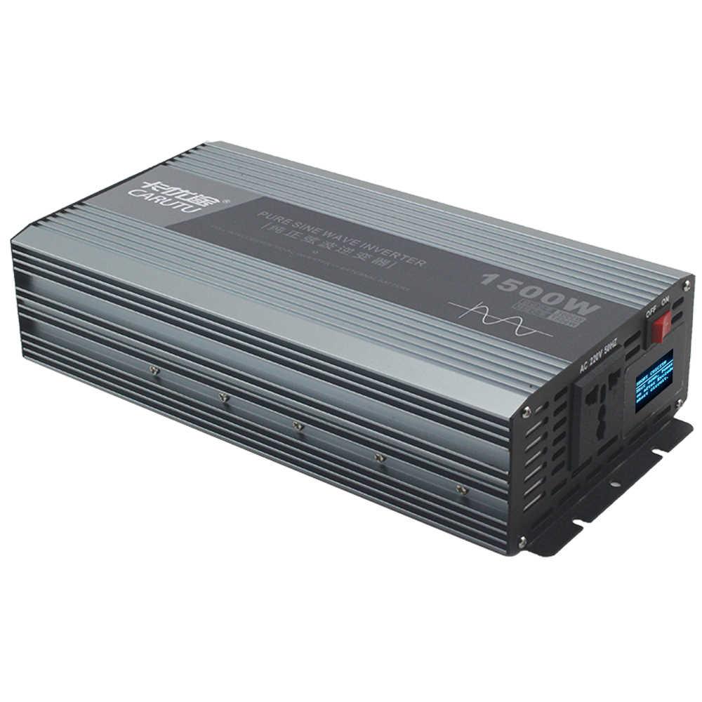 Sürekli 1500W tepe 3000W saf sinüs dalga güç inverteri 12v 220v 230V için araç invertör 1P klima/elektrikli su ısıtıcısı
