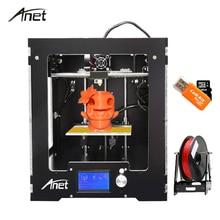 Новые Анет A3-S Полный Собранный Desktop 3D-принтеры Высокая точность RepRap Prusa i3 DIY 3D-принтеры комплект с нити 8 г SD карты