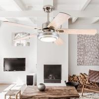 Modern LED adjustable light ceiling fan light iron fashion simple ceiling lamp 42 Inch 107 cm ceiling fan.