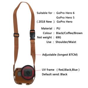Image 2 - Deri Kılıf Koruyucu kapak Git Pro Hero7 6 5 52 MM UV filtre lens kapağı ÇANTA GoPro Hero 7 6 5 eylem Kamera Aksesuarları