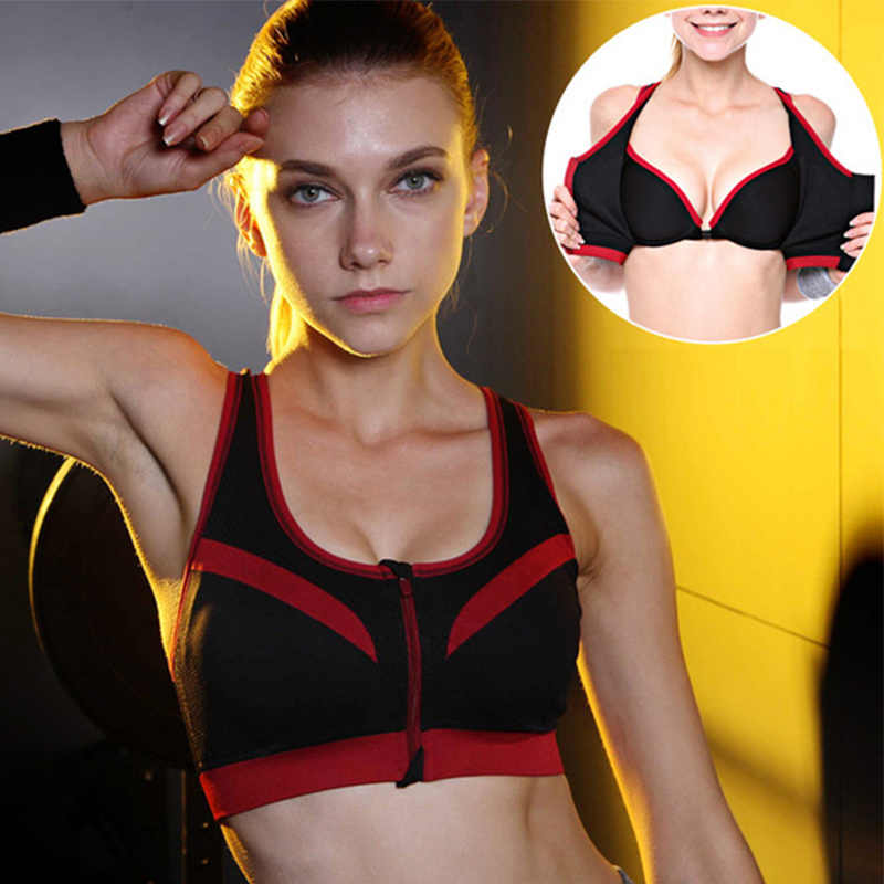 86dd988a82 Binand Sexy Double Layer High-Impact Push Up Sports Fitness Bra For Yoga  Running Front