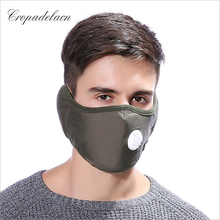 2 in 1 PM2.5 Anti Haze Mask Breath valve Cotton masks anti-dust mouth mask winter earmuff Activated carbon filter respirator