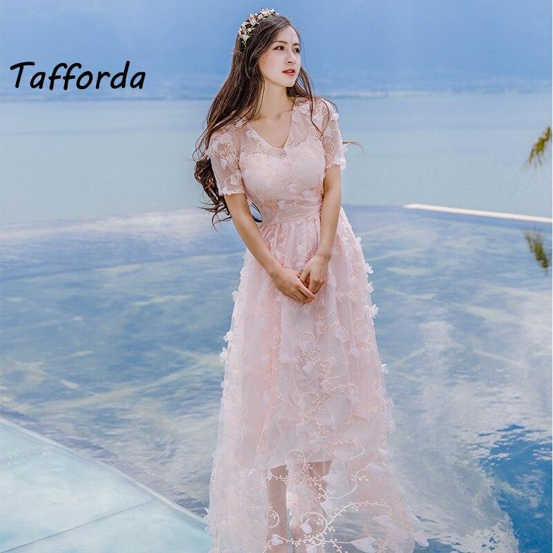 Tafforda 2018 New Model Flower Fairy Dresses Three dimensional Beach ...