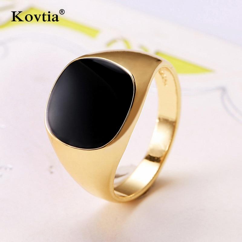 Aliexpress.com : Buy KOVTIA Fashion Gold Color Men Rings ...