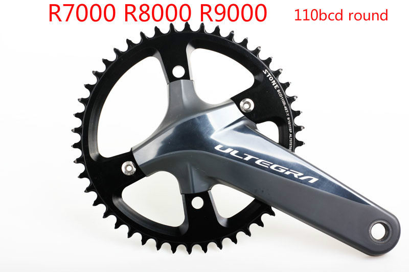 US $52 7 15% OFF|Stone 110 BCD Round Chainring Aero Narrow and Wide Single  Speed 42T 44T 46T 48T 50T 54 56 58T 60 Road Bike 4 bolts R8000 R9000-in