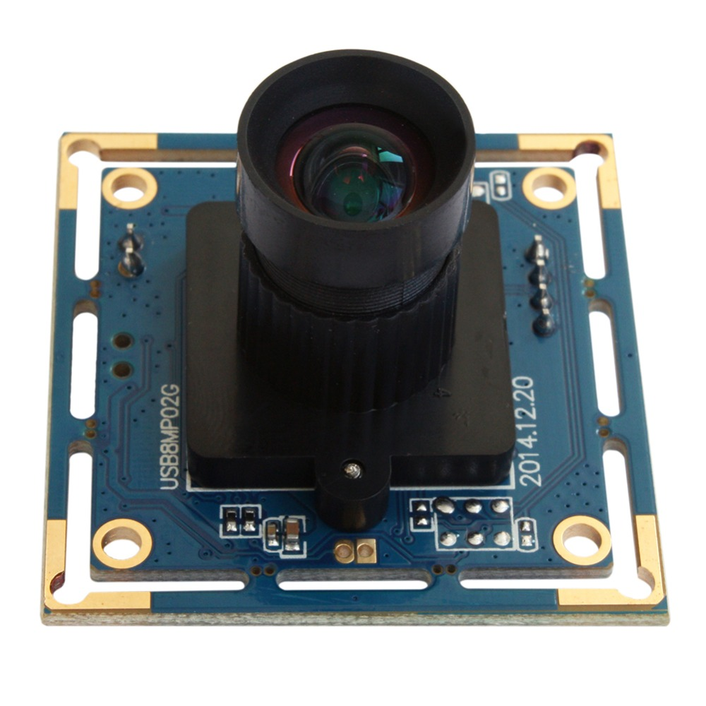 ELP 8MP HD High Speed USB 2.0 sony IMX179 Board  8mm lens CCTV PC Webcam camera module for Document Capture l1000 portable hd 10mp 3672x2856 usb camera photo image document book a3 a4 scanner visual presenter high speed ocr scanner a3