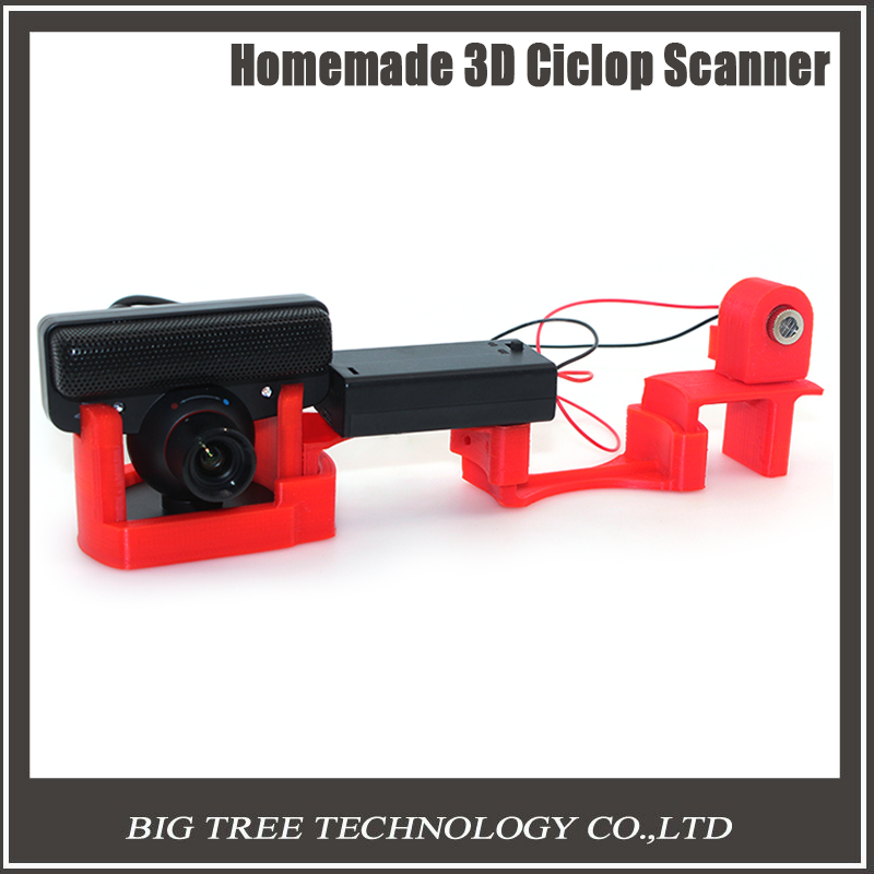 Free shipping Scanner 3D 3D three-dimensional scanner simple cheap laser scan easy to use DIY 3D scanner main kit camera free shiping ciclop diy 3d three dimensional scanner adapter plate precision machine parts for 3d printer parts