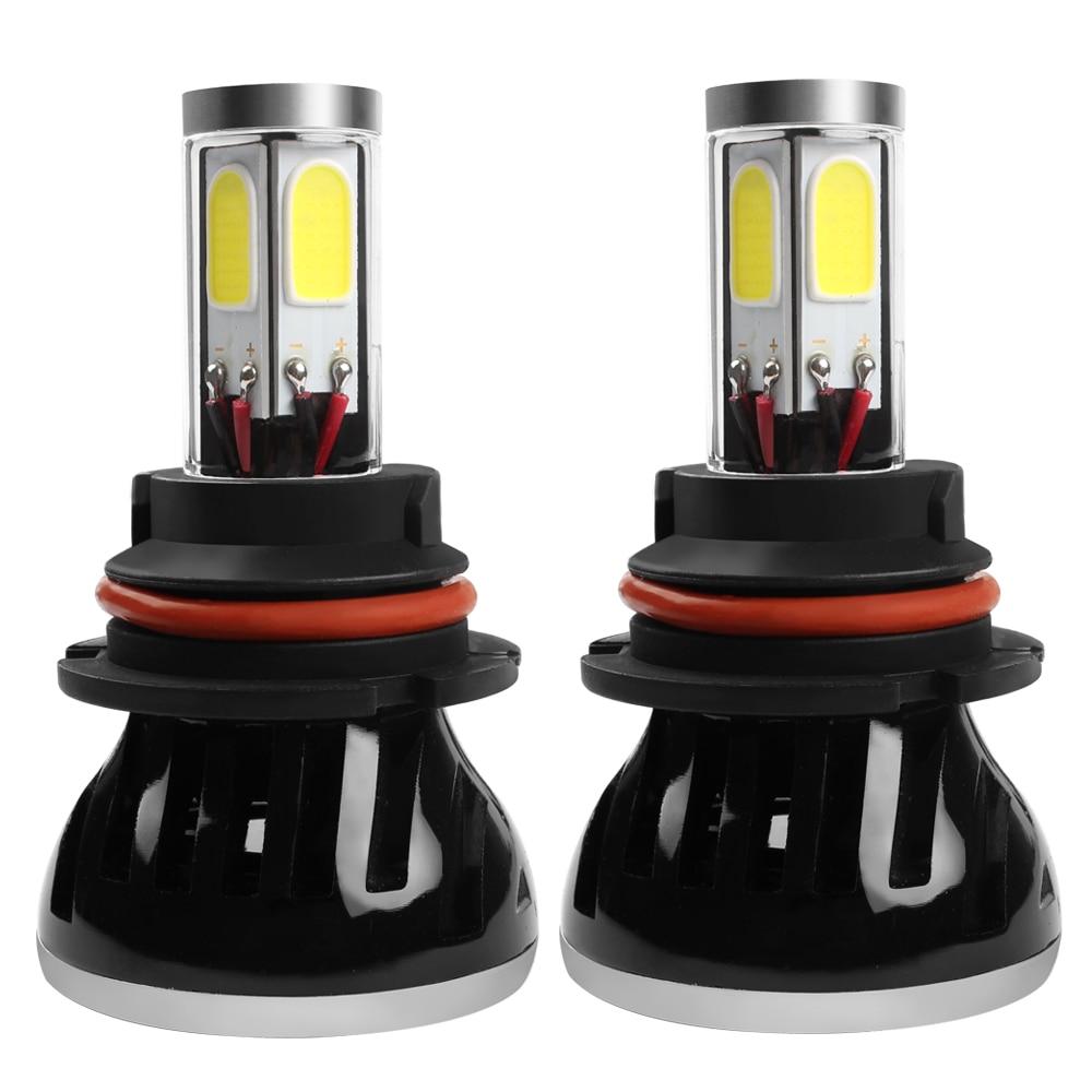 ФОТО 2pcs G5 9007 Car LED Headlight High Low Beam Waterproof Automobile Head Light H1 H3 H4 H7 H11 HB4 Lamp With Fan Car-styling