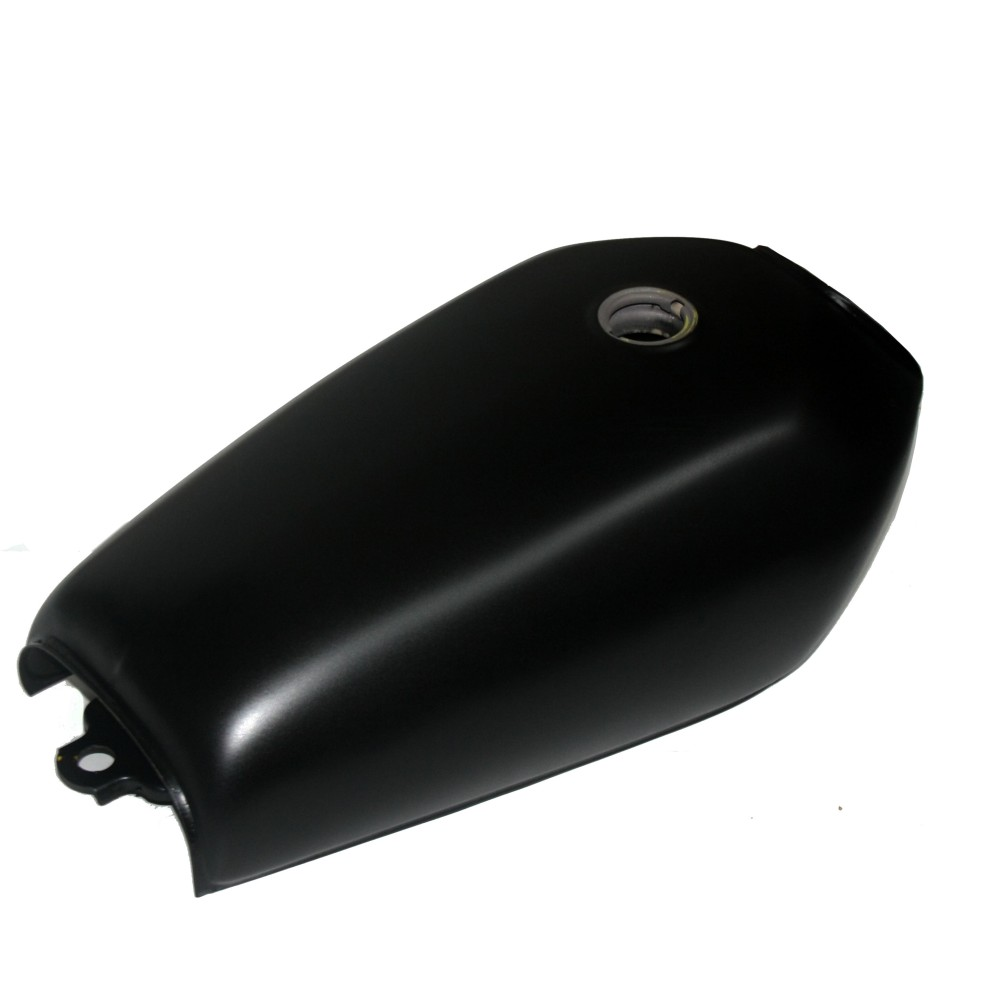 Motorcycle 9L Black Cafe Racer Gas Capacity Tank Universal Fuel Tank with Thick Iron Cap Switch for Honda CG125 CG125S CG250 1pcs refires vintage motorcycle fuel tank lock fuel tank cover motorcycle fuel tank cap for cg125