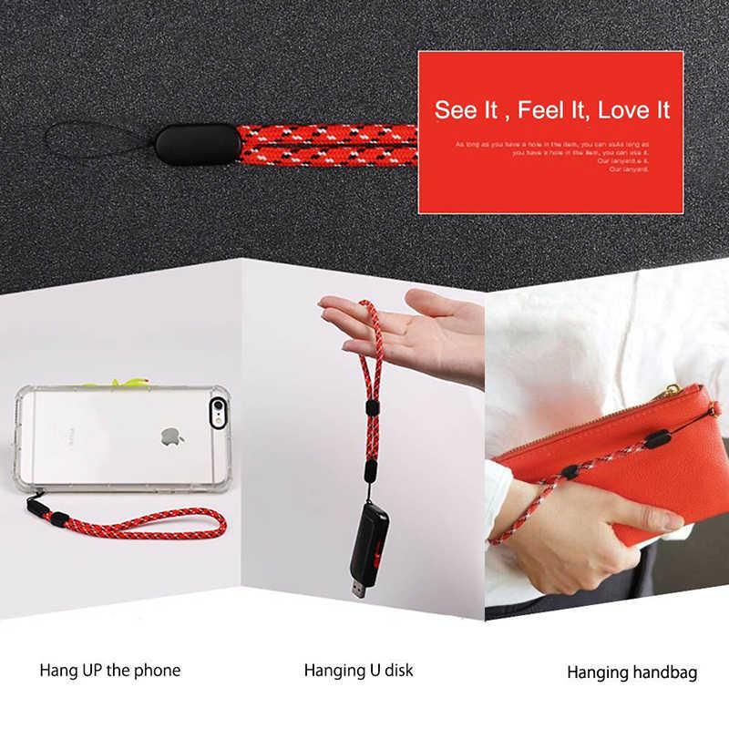 Ascromy 10 Pcs Pergelangan Tangan Yang Dapat Disesuaikan Tali Tangan Tali untuk iPhone 7 8 X Samsung S8 S9 Kamera GoPro USB Flash drive Kunci PSP Keycord