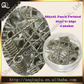 (10 unids/lote) Prebuilt 0.36ohm SS 316L Fundido twisted clapton bobinas 26ga * 2 + 32ga premade cables de plástico apta DIY Atomizador gran vapor