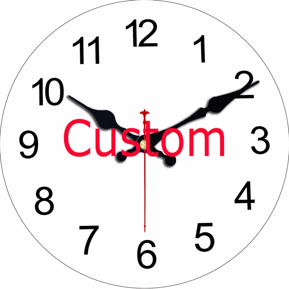 Wonzom Custom Design Print Your Picture Wall Clock Silent Living