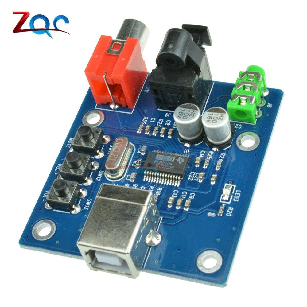 5V USB Powered HIFI PCM2704 DAC to S/PDIF Sound Card Decoder Board 3.5mm Analog Output F/PC Module pcm2704 usb sound card dac decoder module usb input coaxial optical fever hifi sound decoder