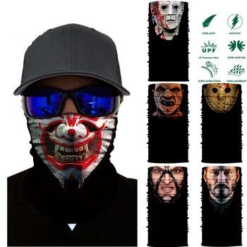 3D Cycling Neck Bandana Horror Demon Vampire Skull Face Shield Mask Headband Headwear Headscarf Bicycle Zombie Seamless Bandana