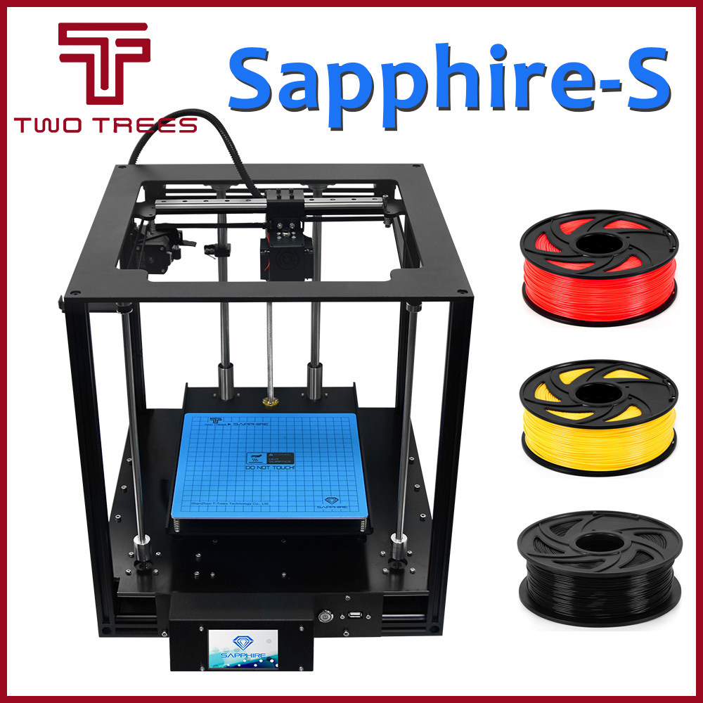 3D printer impresora Sapphire S SapphireS filament freebie 3d DIY kit extruder stampante drucker Resume Power Failure Hotbed-in 3D Printers from Computer & Office    1