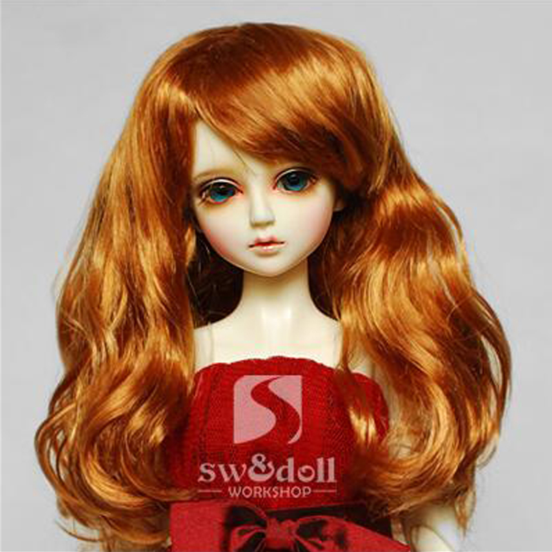 1PCS Hot Sale SD BJD Doll Wig Curly Wig For Dolls BJD 1/4 1/6 1/3 new 1 3 1 4 1 6 bjd wig curly short hair curly fringe doll diy high temperature wire for bjd sd dollfie