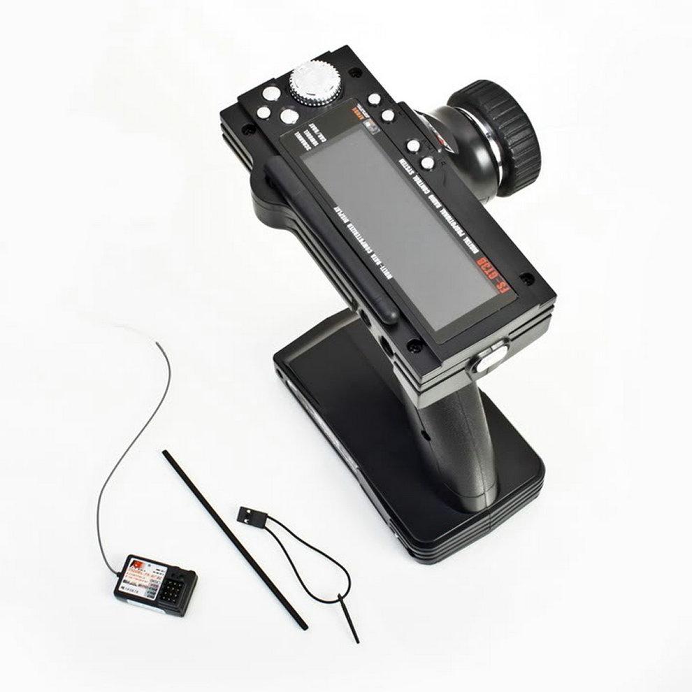 FS-GT3B 2.4G 3CH RC Båt- eller bilstyrning Pistolsändare och mottagare för radiokontrollmodeller Hög känslighet med LED-skärm