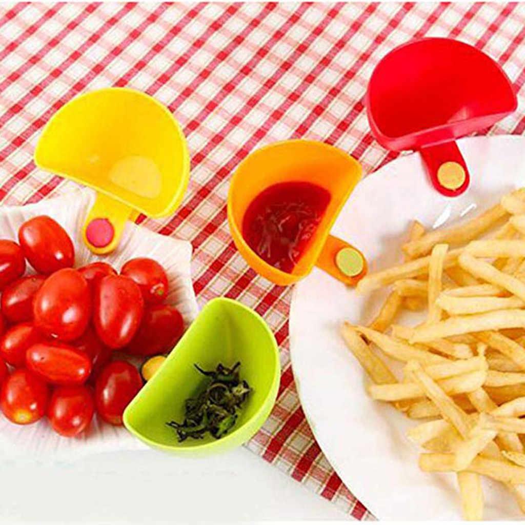 30 @ 1Pcs Berbagai Macam Bumbu Gula Salad Tomat Saus Pasta Piring Dapur Klip Mangkuk Dip Klip Kecil Bumbu Dapur mangkuk Dip