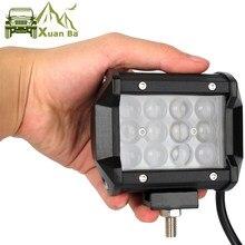 Niva – lentille de projecteur 4D Led 4x4, barre lumineuse pour voiture camion tracteurs moto bateau ATV SUV, projecteurs de travail