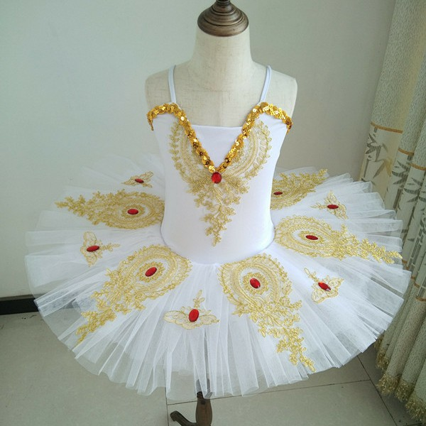 Dance Dress For Girls Ballet Dress Tutu Children Ruby Diamond Pancake Swan Lake Ballet Bailarina Kids Stage Performance Costume