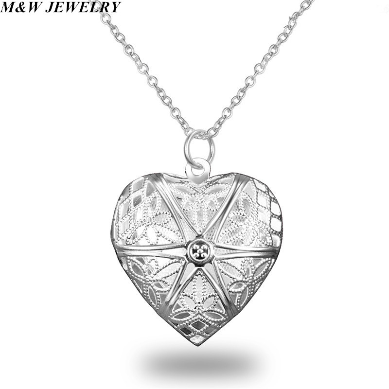 M&W JEWELRY 2017 Fashion exquisite jewelry pendant plating silver love photo frame pendant couple jewelry hot