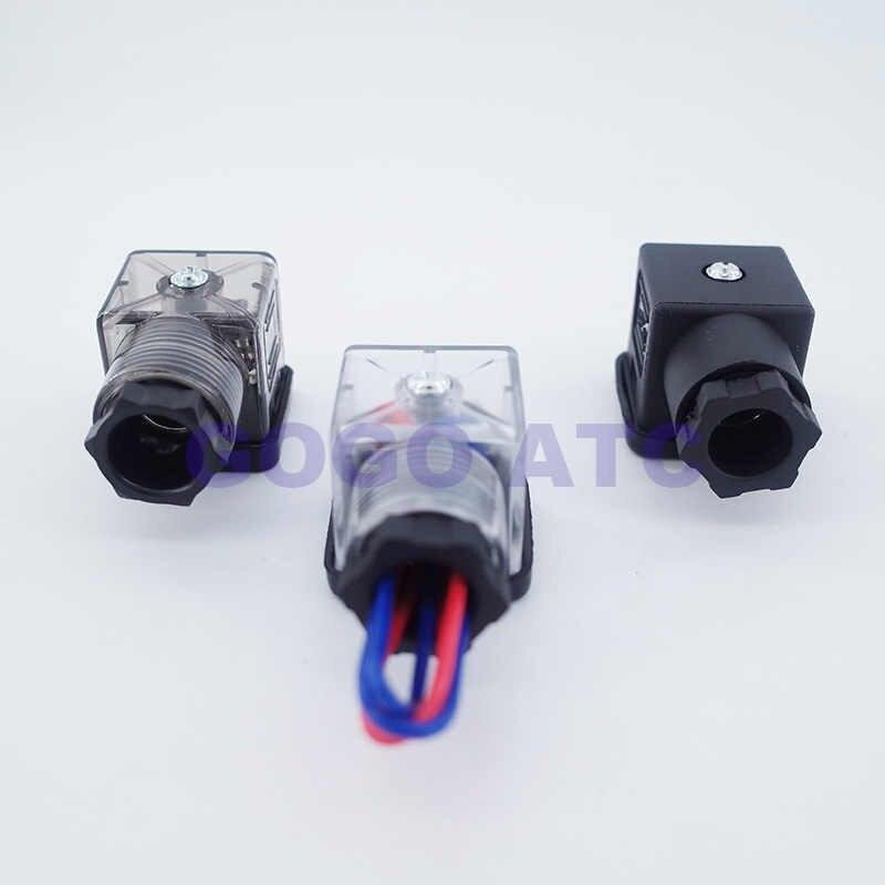 GOGO spina solenoide valvola di connettore, DIN43650 di Buona qualità solenoide bobina connettore per la valvola solenoide bobina