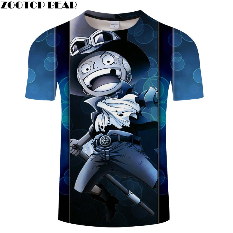 NEW Comic One Piece Men T Shirts 3D Print Funny Loose Short Casual O-Neck Shirt Movie Anime Brand t-shirt Breathable ZOOTOPBEAR