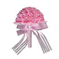 Handmade Bridal Artificial Foam Roses Flower Bouquet Wedding Bride Party Decor Wonderful3 21 20