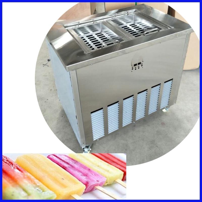 Nuovo tipo di doppia stampi ice cream maker popsicle macchina